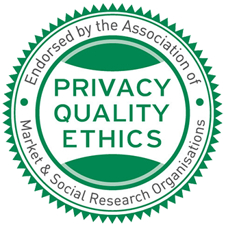 Endorsed by the Association of Market & Social Research Organisations - Privacy, Quality, Ethics