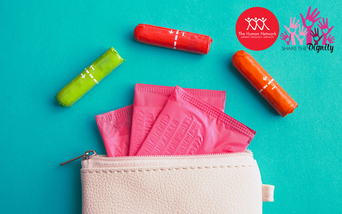 THN donates to Share the Dignity Australia to go towards minimising period poverty - represented by a toiletry bag filled with sanitary items.