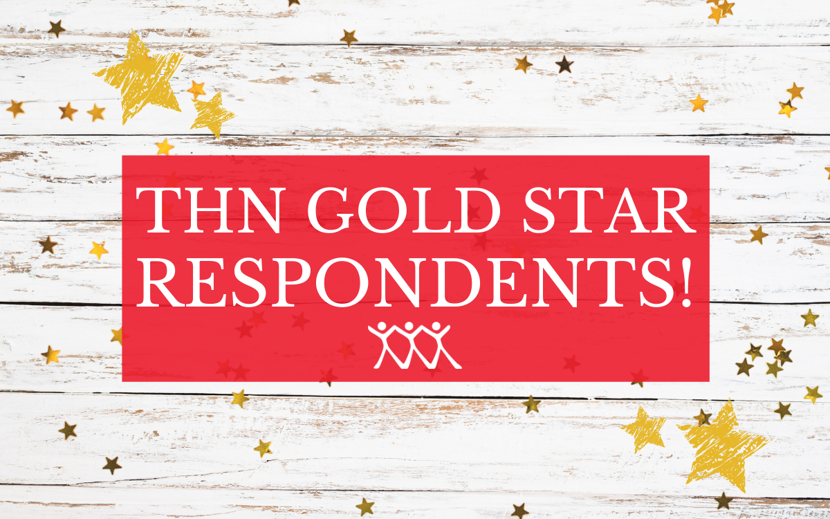 THN have gold star respondents which are considered to be the top tier market research respondents. Represented by white timber with cold stars over the top.