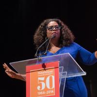Oprah giving a speech
