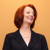 First female prime-minister in Australia, Julia Gillard speaking