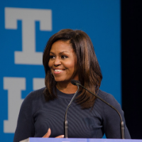Famous first lady Michelle Obama